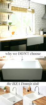 how to install farm sink in cabinet why we didn t chose the ikea domsjo havsen sink for our farm