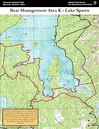 Map Of Yellowstone Park Bear Management Area K Lake Spawn Map Yellowstone National Park