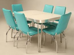 Kitchen  Cute Creating A Retro Kitchen Tables And Chairs With - Metal kitchen table
