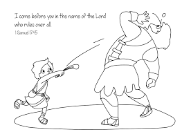 coloring pages kids david and goliath bw bible coloring pages