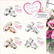 wedding bands singapore taka jewellery wedding bands promotion sale great deals singapore
