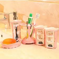 Pink Bathroom Accessories Sets by Cheap Wood Bathroom Accessories Sets Find Wood Bathroom