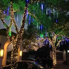 outdoor string lights rain yiyang multi color 30cm meteor shower rain tubes ac100 240v led