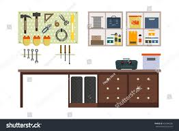 flat garage inside working place tools stock vector 434349268 flat garage inside working place with tools in storeroom garage interior tools