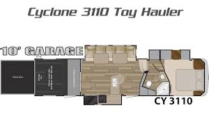 Toy Hauler Floor Plans Cyclone Toy Hauler By Heartland Rv