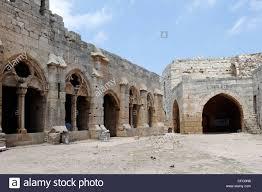Krak Des Chevaliers by Krak Des Chevaliers Syria The Inner Courtyard Of The Crusader