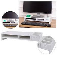 rehausseur de bureau support ecran ordinateur bois comparer 30 offres