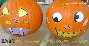 Decorate Pumpkin 2 Easy Ways To Decorate Pumpkins With Young Kids Fspdt