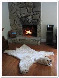 Faux Fur Area Rugs by Decor Animal Friendly Products With Fake Bear Rug U2014 Bethelutheran Org