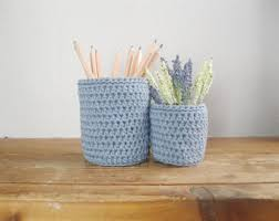 Shabby Chic Office Accessories by Office Pencil Holder Etsy