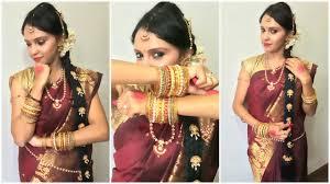 traditional dress up of indian weddings traditional karnataka bridal makeup indian pavithra iyer