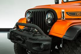 orange jeep cj 2018 jeep wrangler grille hides in plain sight in easter jeep