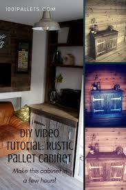 diy video tutorial reclaimed pallet wood cabinet u2022 1001 pallets
