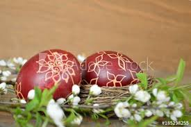 wax easter egg decorating easter eggs decorated with wax and flowers buy this stock