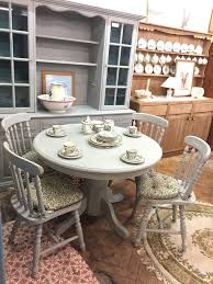 Dining Room Chair Cushions Sale Farmhouse Table Painted In Annie Sloan Paris Grey Matching Chairs