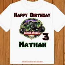 personalized monster truck tshirt boys personalizedkiddie