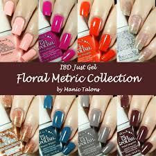 manic talons gel polish and nail art blog ibd just gel floral