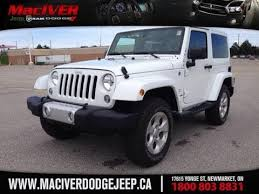 2014 White Jeep Wrangler Sahara 2 Door Newmarket Ontario Maciver