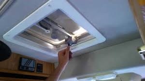 Rv Bathroom Fan Blade Replacement Install A New Replacement Rv Roof Fan Vent Part 4 Youtube