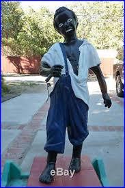 jockey groom hitching post statue black americana 43 cast iron