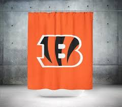 Cincinnati Bengals Curtains The Nfl Collection U2013 Shower Ink