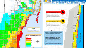 Counties Of Florida Map by South Florida Evacuation Zones In The Event Of A Hurricane Nbc 6