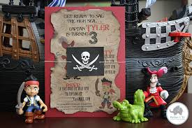 spotted ink jake neverland pirates party invitations