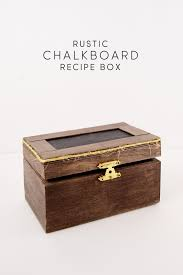 unique boxes rustic dy chalkboard recipe box diy candy