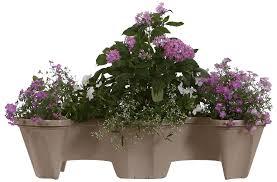 amazon com nancy janes stacking planters d5161 self watering deck