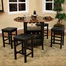 pub table and chairs with storage high top dining table with storage dinning set table home throughout