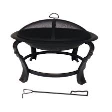 Home Depot Firepits by Hampton Bay Ashcraft 30 In Steel Round Fire Pit Ft 01c The Home