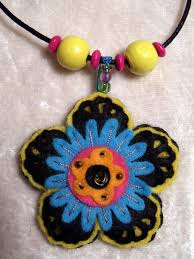 coloured flower necklace images Slate grey flower felt necklace jewellery necklaces 3 50 jpg