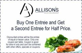 half price restaurant affordable dinner and lunch specials at allison s restaurant