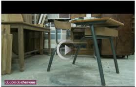 bureau écolier relooké peindre un meuble ancien idée peinture béton ciré adhésif tadelakt