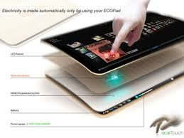 design tablet ecopad tablet design uses no external power source for charging