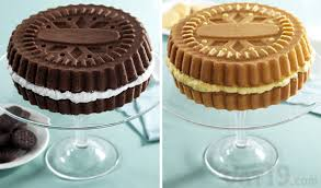 Sandwich Cookie Cake Pans Bake a cake that looks like a gigantic