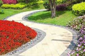 Colored Rocks For Garden Like The River Rock Border And Flowers Multi Colored Paver