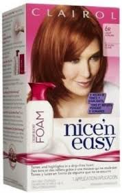 clairol nice n easy natural light auburn nice n easy color blend foam 6r light auburn
