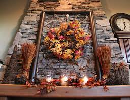 excellent concept of thanksgiving decoration using leave wall decor