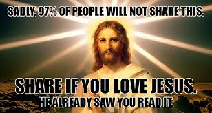 Jesus Meme - stone hearted man scrolls right past jesus meme without sharing it