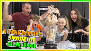 thanksgiving smoothie challenge in a blender we are