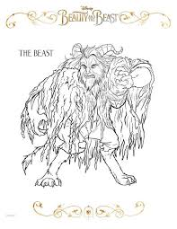 kids fun 20 coloring pages beauty beast 2017
