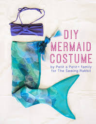 Mermaid Halloween Costume Toddler Diy Mermaid Costume Sewing Rabbit