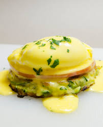 eggs benedict with zucchini pancakes easy hollandaise sauce low