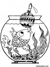 printable fish christmas decorations coloring pages