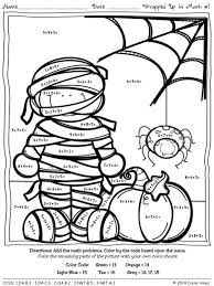 halloween math coloring sheets 19 halloween worksheets