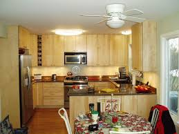 Ceiling Fan For Dining Room Kitchen Outstanding Small Kitchen Remodels Ideas With Maple Wood