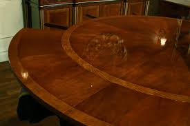 Mahogany Dining Room Furniture Round Antique Reproduction Expandable Dining Table