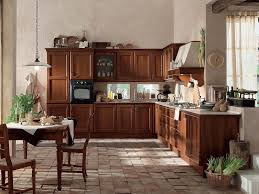 Antique Kitchen Design by Beautiful Vintage Kitchen Design With Oak Wooden Cabinets Jpg