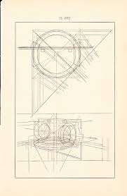1886 technical drawing antique math geometric mechanical